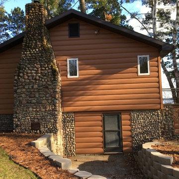 Custom Log Cabin in Northern Minnesota