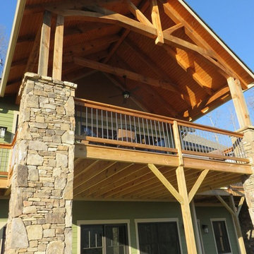 Custom Mountain Home with Timber Framing