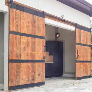 Custom Pool House Barn Doors