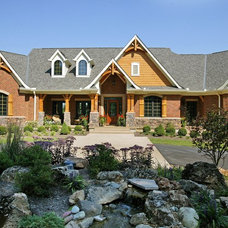 Rustic Exterior by Robert Lucke Homes