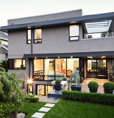 modern exterior by Natural Balance Home Builders