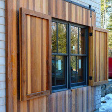 Traditional Exterior by Real Sliding Hardware