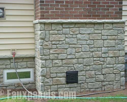 Exterior Designs featuring Faux Stone and Faux Brick