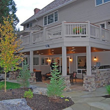 Deck: Under the covered porch