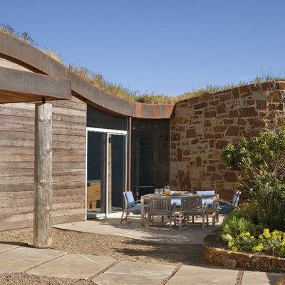 Contemporary wood exterior home idea in San Francisco