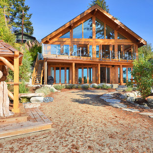 Mountain style two-story exterior home photo in Vancouver