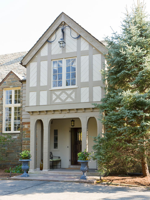 English tudor paint scheme houzz for Tudor siding