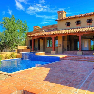 Inspiration for a southwestern exterior home remodel in Phoenix