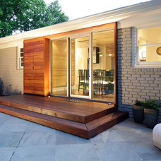 Midcentury Exterior by Hagan Architects, Inc.