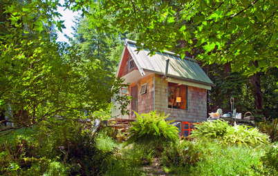 A Tiny Cabin for Glamping in the San Juan Islands