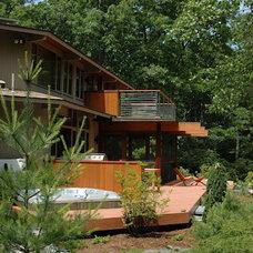 Contemporary Exterior by Buchanan Custom Builders