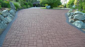 Decorative Driveway (Ashlar Slate pattern)