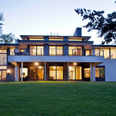 Contemporary Exterior by John Kraemer & Sons