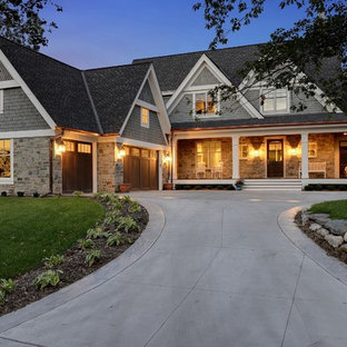Traditional two-story exterior home idea in Minneapolis