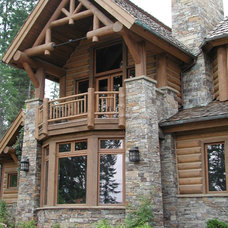 Traditional Exterior by Deer Run Stone
