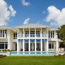 Tropical Exterior by Cudmore Builders