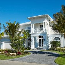 Tropical Exterior by Architect Bruce Celenski, Inc.