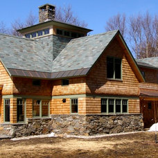Rustic Exterior by SANFORD STRAUSS ARCHITECTS