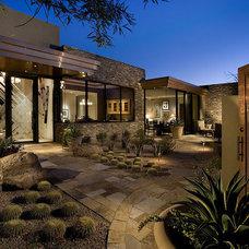 Contemporary Exterior by R.J. Gurley Custom Homes