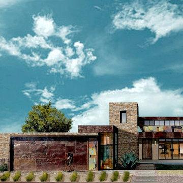 Desert modern Graffiti / Abstract House