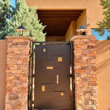 Desert Modern Home courtyard entry gate