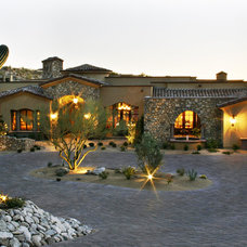 Mediterranean Exterior by Robinette Architects, Inc.