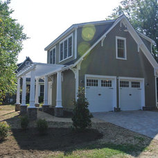Craftsman Garage And Shed by Consynigy Renovations
