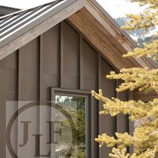 Contemporary Exterior by JLF & Associates, Inc.