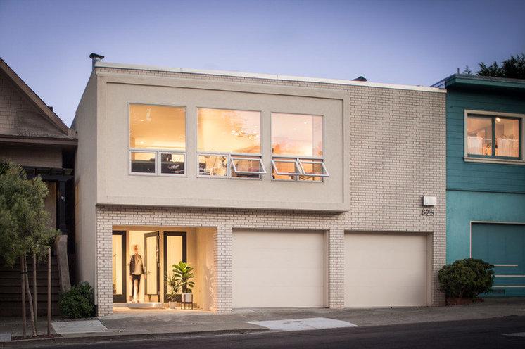 Midcentury Exterior by Regan Baker Design
