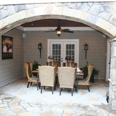 Mediterranean Exterior by Legacy Landscapes, Inc.