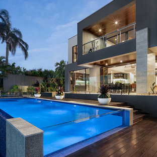 Design ideas for a contemporary exterior in Gold Coast - Tweed.
