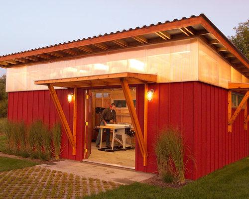Wood shop exterior design ideas renovations photos for Shop exterior design
