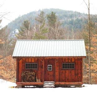 Bild på ett minimalistiskt hus