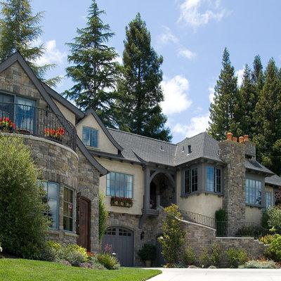 Example of a classic mixed siding exterior home design in San Francisco