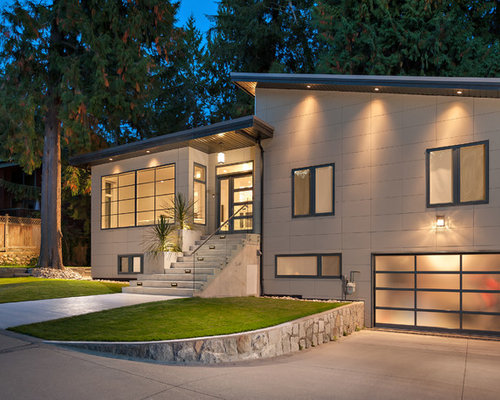 Foto e idee per facciate di case facciata di una casa for Piani di fattoria moderna piccoli