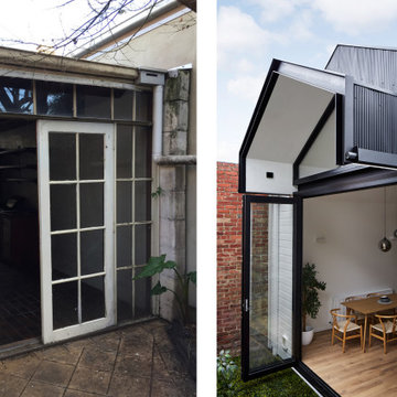 Dot's House: External Rear Before and After