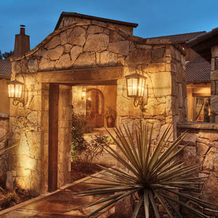 Inspiration for a southwestern exterior home remodel in Austin