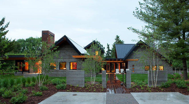 Transitional Exterior by SALA Architects