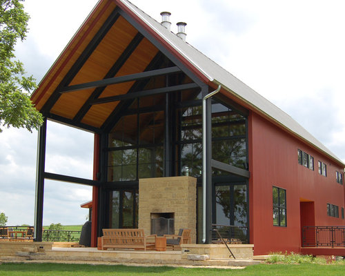 Barndominium houzz for Cost to build a 2 story house