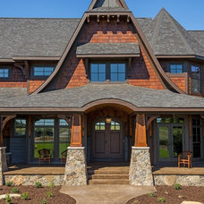 Transitional Exterior by Divine Custom Homes