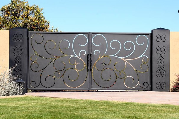 Traditional Exterior by Colletti Design Iron Doors