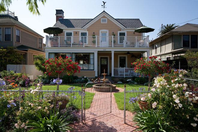 Traditional Exterior by Margie Grace - Grace Design Associates