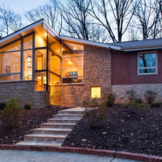 Midcentury Exterior by Renewal Design-Build