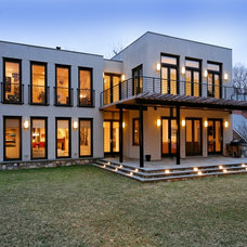 Transitional Exterior by Laurence Cafritz Builders