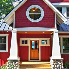 Farmhouse Exterior by MAC Custom Homes
