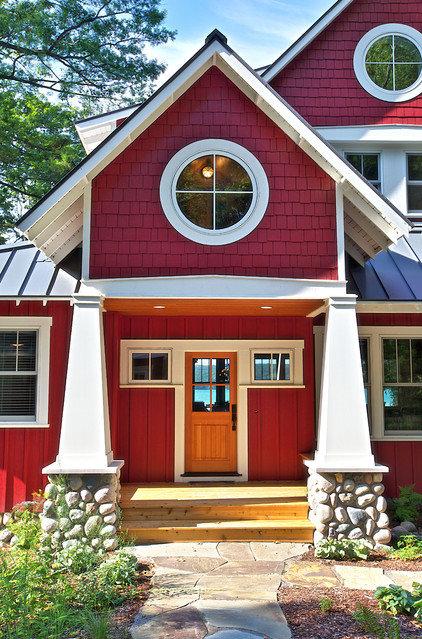 Rustic Exterior by MAC Custom Homes