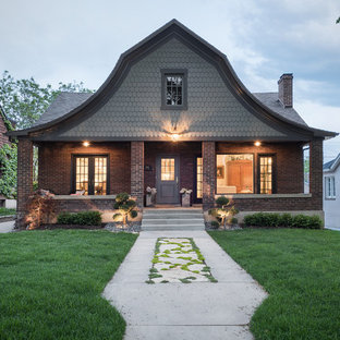75 Beautiful Exterior Home With A Gambrel Roof Pictures