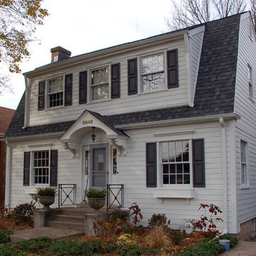 Dutch Colonial Style Home - Chicago, IL in James Hardie Siding & Trim