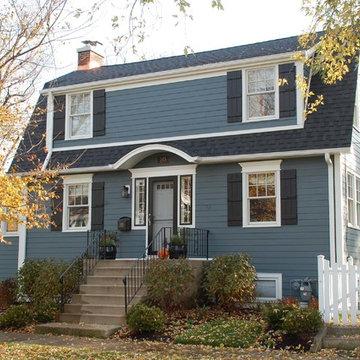 Dutch Colonial Style Home - Park Ridge, IL in James Hardie Siding & Trim