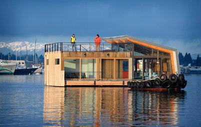Arkitektur: Hur är det att leva till sjöss på en husbåt?